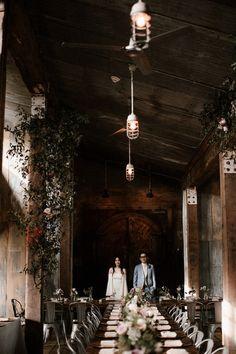 Moody, modern spring wedding at Cherry Hollow Farm in Atlanta, GA