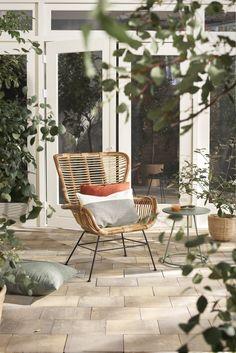Natural rotan tuinstoel | Natural rattan lawn chair | KARWEI 3-2018