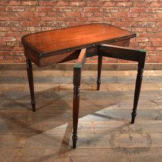 Antique English Regency Fold-over Tea Table C.1820 Mahogany & Rosewood