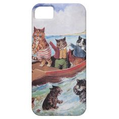Funny Anthropomorphic Cats Vintage Wain iPhone 5 Covers
