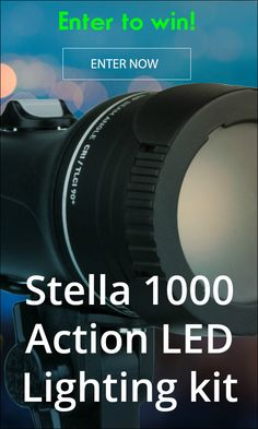 Filmmakers! Solve cinematic lighting challenges with this powerful, lightweight, Stella 1000 Action LED light kit - enter to win!