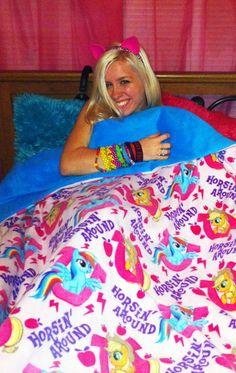 My Little Pony Friendship Is Magic Fleece by TripleThreatCustoms, $60.00