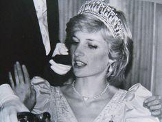 June 23, 1983: Princess Diana attending a Premier Dinner at the Newfoundland Hotel, St John's, Newfoundland. (Day 10)