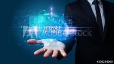 Man hand holding INTERNET OF THINGS inscription, technology concept - Buy this stock photo and explore similar images at Adobe Stock Hand Holding, Holding Hands, Male Hands, Adobe, Hold On, Internet, Concept, Stock Photos, Technology
