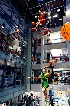 World Basketball Festival Display at NikeTown, New York visual merchandising