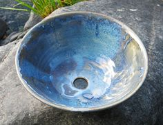 Pottery Sink Basin wheel thrown by rikablue on Etsy, $348.00