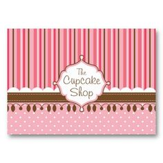 Cupcake Shop Chubby Business Cards #cupcake