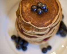 Cinnamon Blueberry Pancakes