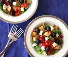 Roasted Vegetable Greek Salad (Low Carb and Gluten-Free)