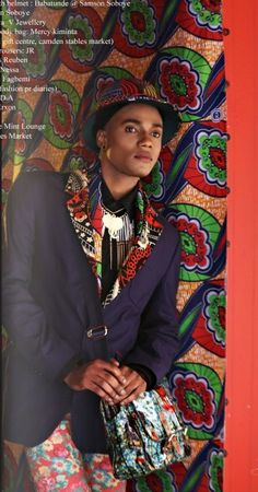 """Wild Awakening"" fashion editorial from Fashion Ghana. Stylist: Funmi Fagbemi Make Up: Shiela Nessa Editing: Erik Erxon Model: Julius Reuben Location: Stables Market, Camden, UK Ghana Culture, African Culture, Fashion Artwork, Fashion Prints, African Print Dresses, African Prints, African Design, African Style, Fashion Themes"