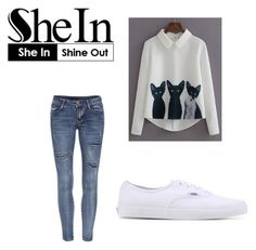 Bez naslova #252 by almaaa789 on Polyvore featuring polyvore, mode, style, Vans, fashion and clothing