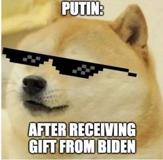 Putin Gets Sunglasses From Biden Meme On Today, News Today, Funny News Headlines, News Memes, Spanish Men, Funny Memes, Hilarious, Bad News, Sunglasses