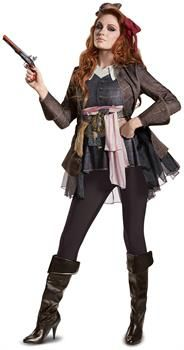 PartyBell.com - Pirates of the Caribbean 5: Captain Jack Female Deluxe Adult Costume