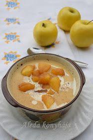 Aleda konyhája: Karamellizált alma krémleves Cheeseburger Chowder, Fondue, Cantaloupe, Soup, Pudding, Fruit, Ethnic Recipes, Desserts, Caramel