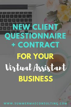 A done-for-you new client welcome packet for your virtual assistant business, including client questionnaire, contract, VA rates and packages templates and more!