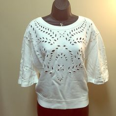 Beautiful Free people top Pull over crumpet ivory Free People Tops