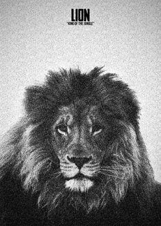 LION KING STIPPLE EFFECT