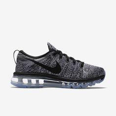 release date: 96998 d050a Chaussure de running Pas Cher Nike Flyknit Air Max pour Femme Blanc Noir
