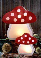 DIY toadstool paper lantern #woodland #party