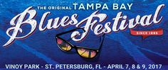 The beachfront Tampa Bay Blues Festival, named one of the most beautiful festivals in the world, returns to Vinoy Waterfront Park in St. Petersburg, FL on April 7, 8, & 9, 2017