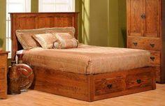 Amish San Juan Mission Platform Bed with Drawers