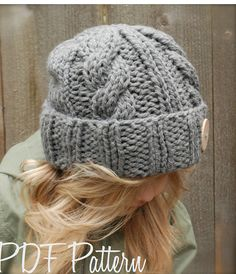 Knitting PATTERNThe Beckett Hat Toddler Child by Thevelvetacorn