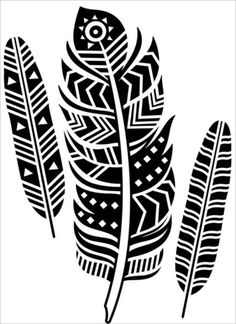 Darice Embossing Folder - Tribal Feathers