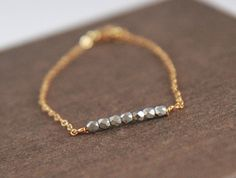 Gold Bracelet  Friendship Bracelet  Tiny Silver by lilabelledesign, $21.00