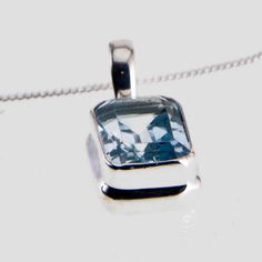 Sterling Silver and Topaz Pendant, Included in the price is a , or Sterling Silver curb chain. Silver Shop, Topaz, Silver Jewelry, Cufflinks, Rocks, Perfume Bottles, Jewelry Design, Range, Sterling Silver