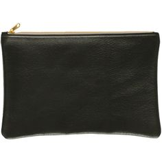 American Apparel Medium Leather Carry-All Pouch ($46) ❤ liked on Polyvore