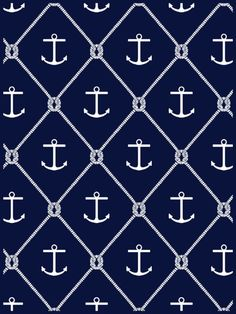 The traditional nautical anchor. Tommy Hilfiger Wallpaper, Nautical Party, Nautical Wedding, Anchor Party, Anchor Wallpaper, Nautical Wallpaper, Marine Style, Nautical Prints, Nautical Anchor