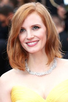 US actress Jessica Chastain smiles as she arrives on May 11, 2016 for the opening ceremony of the 69th Cannes Film Festival in Cannes, southern France.  / AFP / Valery HACHE        (Photo credit should read VALERY HACHE/AFP/Getty Images)
