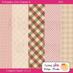 Today I have some Free Digital Shabby Chic Scrap-booking Papers that you can use for commercial or personal use.