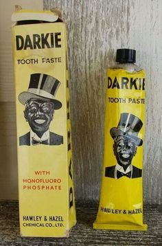 Racist Americana: 'Darkie' toothpaste, by Hawley and Hazel Chemical Co.