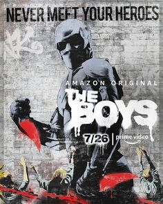 "High resolution movie poster image for ""The Boys"" The image measures 1600 * 2370 pixels and is 894 kilobytes large. Green Gables, Amazon Wallpaper, Star Trek, Posters Amazon, Female Of The Species, Movies For Boys, Black Noir, Original Movie Posters, He Is Able"