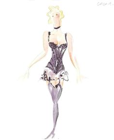 Cabaret (Sally Bowles, Act I). Costume design by William Ivey Long.