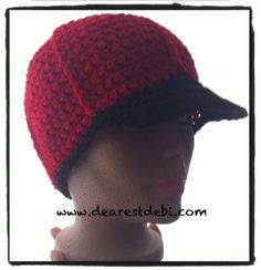 Mens Crochet Ball Cap Free Crochet Pattern by DearestDebi - A crochet ball cap with brim for men. A quick and easy project, great for any advanced beginner.