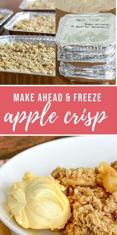 Money savers 189010515599021602 - I LOVE this easy freezer friendly apple crisp! And it has apples so it's kind of a little healthy…. Freezer Desserts, Camping Desserts, Easy Freezer Meals, Freezer Food, Best Apple Crisp Recipe, Apple Crisp Easy, Apple Crisp Recipes, Apple Recipes To Freeze, Freezer Recipes