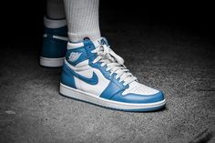 """***RELEASE REMINDER*** The Nike Air Jordan Retro High OG """"Powder Blue"""" will be available as a BG-model (EU 35,5 - 40 