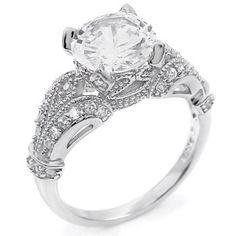 2 ct cz Brilliant cut Engagement Ring .925 Silver