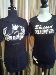 Great t-shirts-- Blessed and Baseball Mom just $38!!! Shop with Fleur de Lis on Facebook! We'll ship to you!