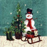 2148 Servilleta decorada Navidad
