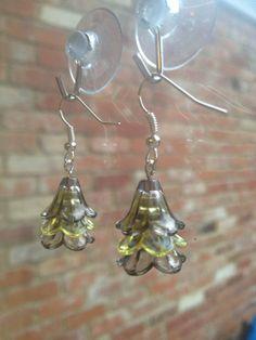 Batman inspired dangle earrings black yellow by VINTAGEnKITSCH, £3.00