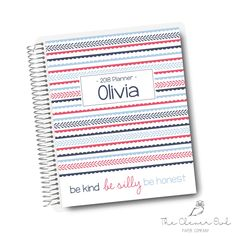 Be Silly, Funky Stripes Horizontal Planner