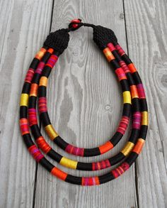 African Prints in Fashion: APIF Gift Guide: Necklaces by Mariscapes