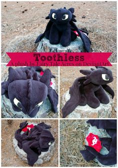Toothless Plush by fairytaleacres on DeviantArt Available for commissions! Check DeviantArt for more information!
