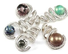 STERLING Love KNOT™ in Reflections™  Handmade  Lampwork Bead.