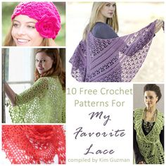 Monday Link Blast: 10 Free Crochet Patterns for My Favorite Lace