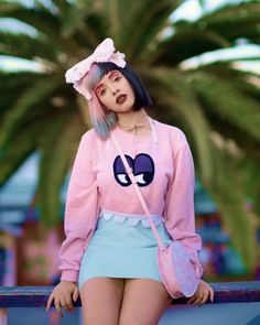 Image de melanie martinez, cry baby, and pink Billie Eilish, Divas, Cry Baby, Lady Gaga, Freelee The Banana Girl, Melanie Martinez Outfits, Melanie Martinez Style, Pastel Skirt, Pastel Dresses