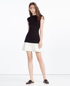 DRESS WITH CONTRASTING FRILL-View All-DRESSES-WOMAN | ZARA United States